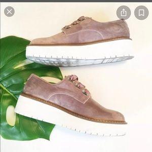 NWT Zara Velvet Platform Shoes